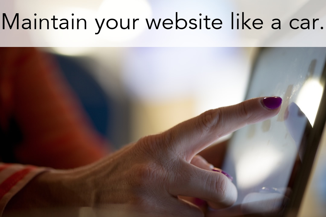 Maintain your website- a client responsibility