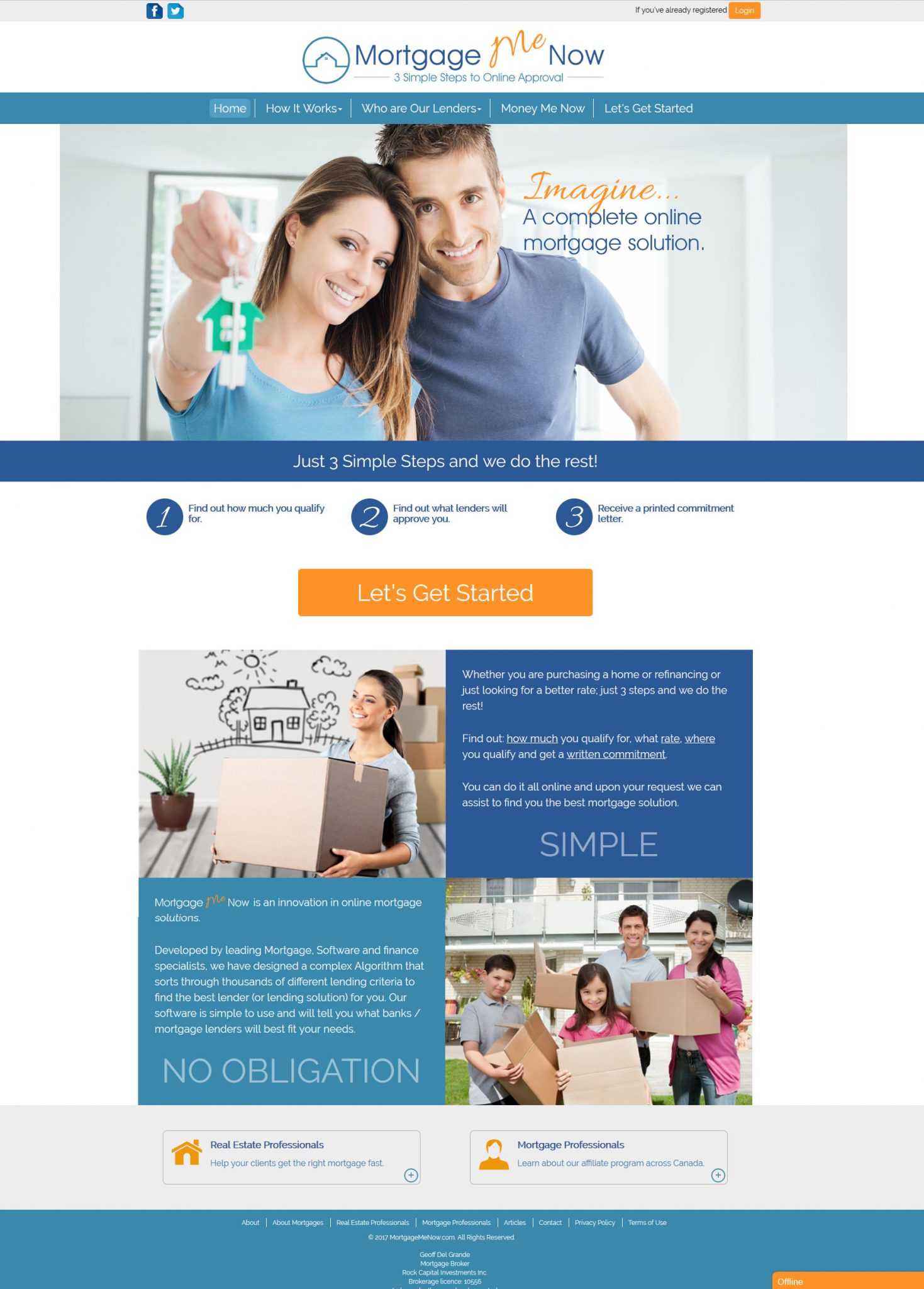 Orangeville Wordpress Website with custom database and back end features.