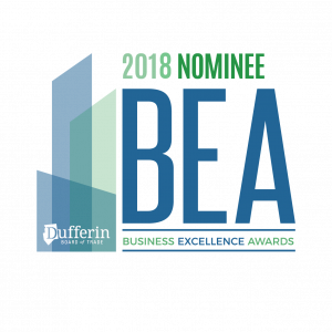 2018 Business excellence award nominee for best business under 10 employees