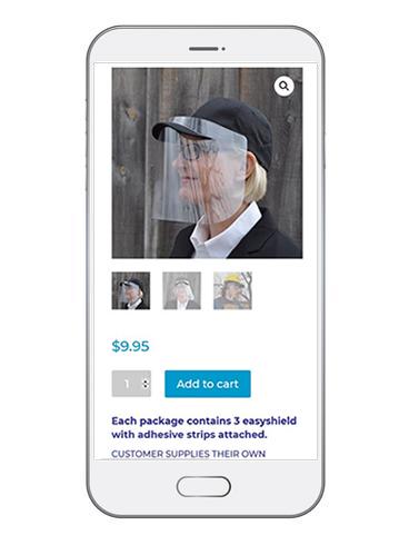 mobile view e-commerce site